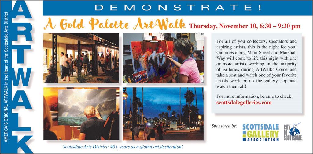 Demonstrate- a Gold Palette Artwalk, November 2016