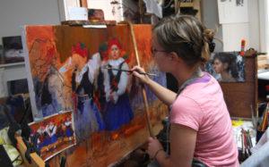 Scottsdale Gallery Association ArtWalk demonstration