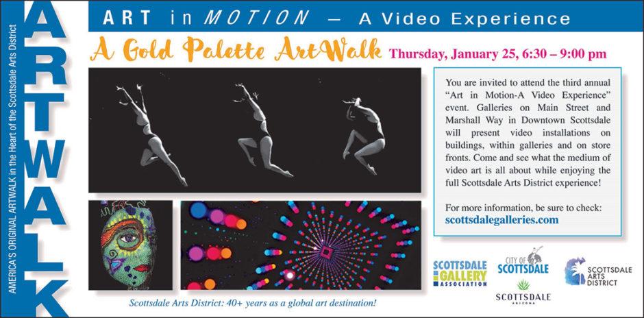 Gold Palette ArtWalk for January 2018: Art in Motion