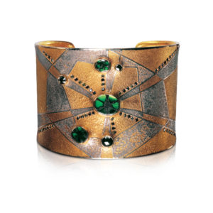 Emerald cuff bracelet by Peter Schmid