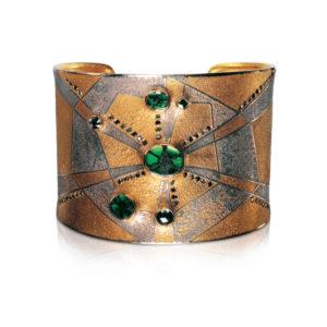 Emerald cuff bracelet by Peter Schmid