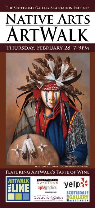 Native Arts ArtWalk flyer 2013