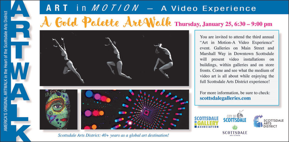 Gold Palette ArtWalk for January 2018: Art in Motion